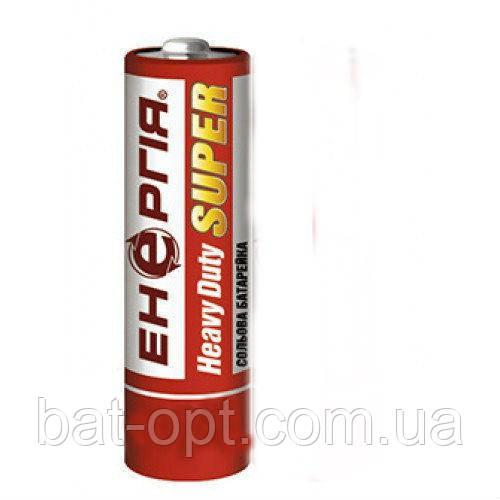Батарейка солевая Энергия Heavy Duty R6 AA пальчиковая (трей)