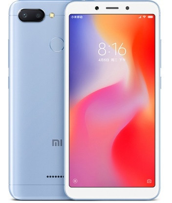 "Смартфон Xiaomi Redmi 6 3/32Gb Blue Global, 12+5/5Мп, Helio P22, 2sim, 5.45"" IPS, 3000mAh, GPS, 8 ядер"