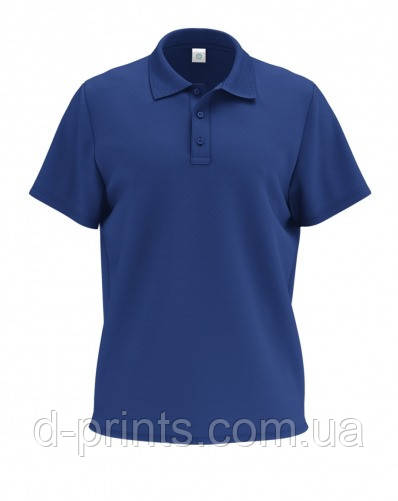 Футболка поло мужская синяя