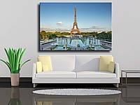"""Картина на холсте """"Эйфелевая башня с Трокадеро, Париж"""""""