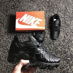 Кроссовки мужские черные Nike Air VaporMax Plus Triple Black (реплика), фото 2
