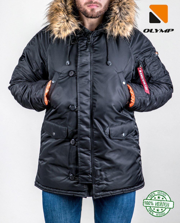 c433ee4a38a Зимняя мужская парка куртка аляска Olymp - N-3B