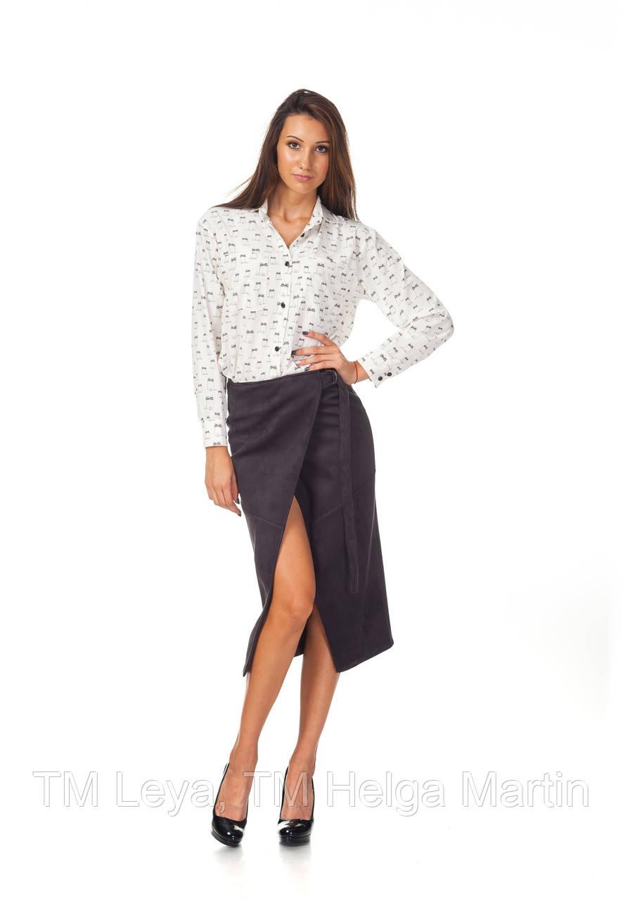 Трендовая женская юбка в запах. Ю098