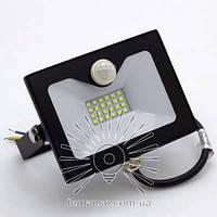 Светодиодный прожектор со встроенным датчиком движения 30W 6500K Lemanso черный LMPS36