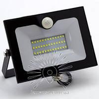 Светодиодный прожектор со встроенным датчиком движения 30W 2400Lm 6500K Lemanso черный LMPS35