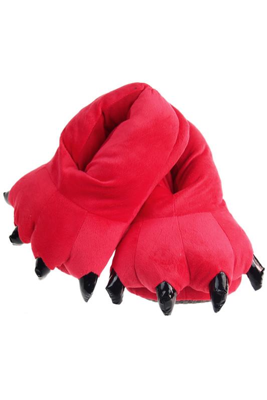 Тапочки теплые для кигуруми красные