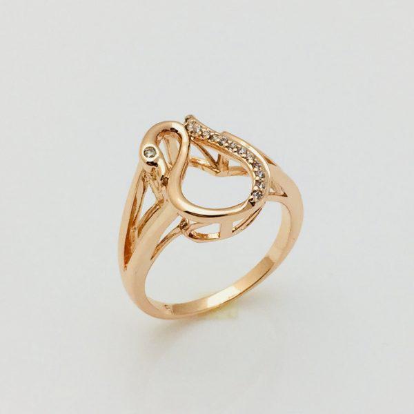 Женское кольцо Губки, размер 17 позолота 18К Fallon