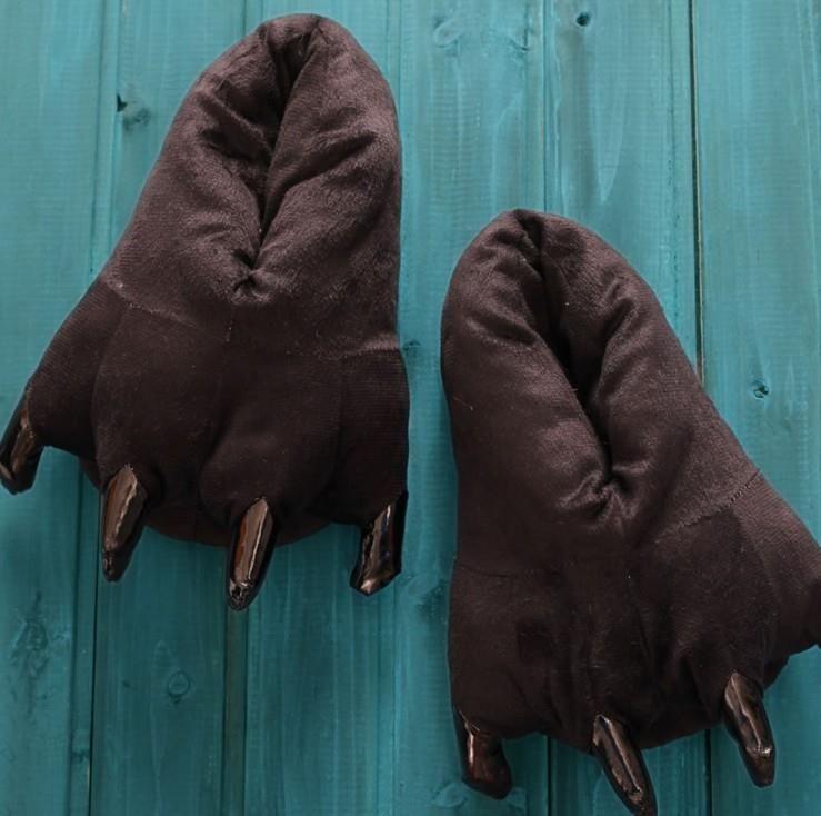 Тапочки теплые для кигуруми коричневые