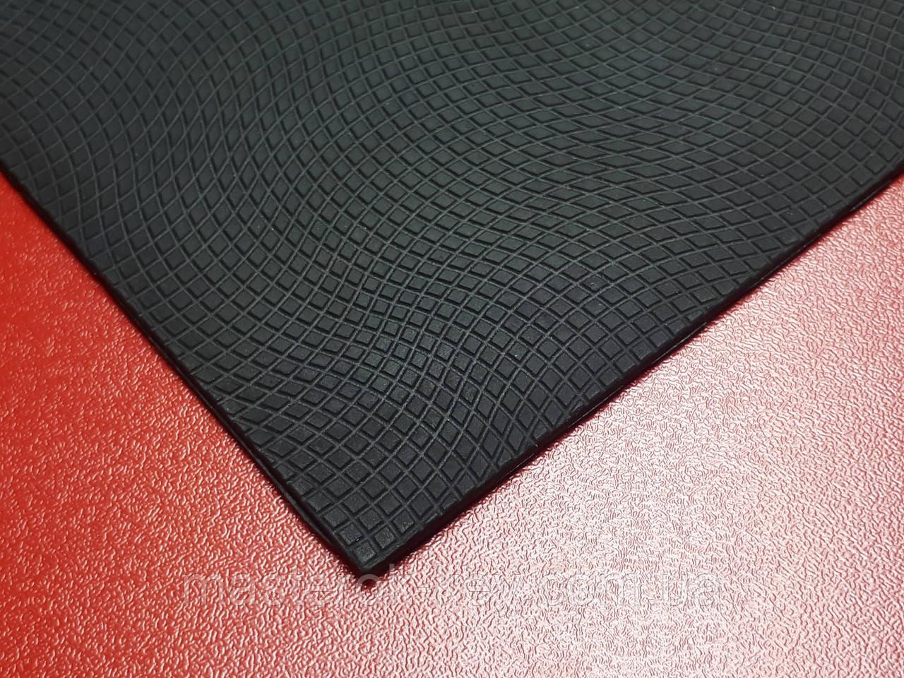 Полиуретан подметочный Волна 300*150*3мм цвет черный