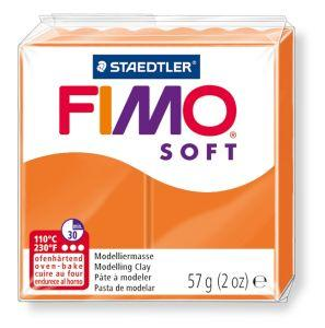 Пластика, полимерная глина, фимо софт Fimo Soft, оранжевая, 57 грамм, Staedtler, 802042
