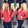 Куртка женская стеганая весна-осень Fashion (42/44, 44/46) (цвет красный) СП