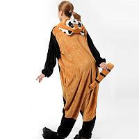 Кигуруми для взрослых Енот (красная панда)
