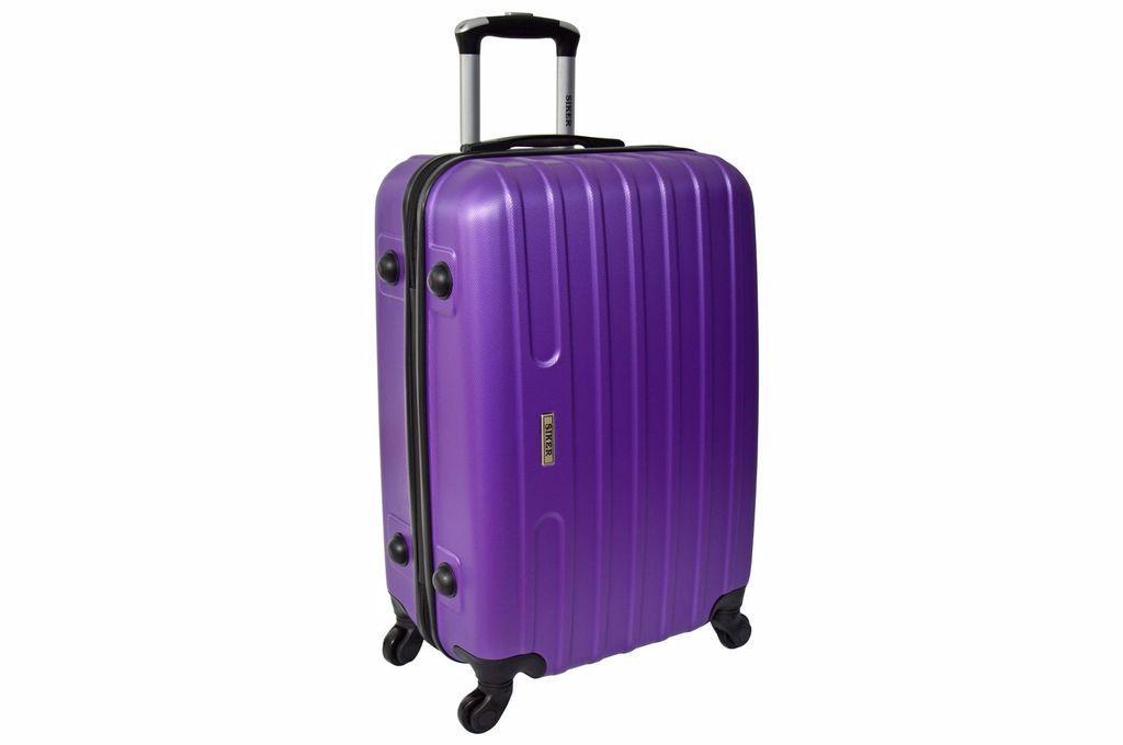 Дорожный чемодан на колесах Siker Line Фиолетовый Средний