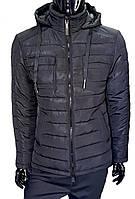Куртка мужская зимняя стеганая 18351 черная, фото 1