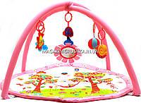 Коврик для младенца музыкальный 668-09-10-17-18-19-20 - 3 вида Розовый