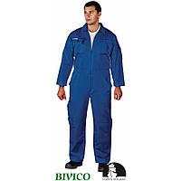 Утепленный комбинезон LH-OVERTER N выпоплнен по технологии HTF, синего цвета.LEBER&HOLLMAN