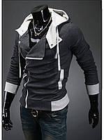 Хорошая теплая толстовка может носиться и как верхняя одежда на рубашку и свитер. Длинная молниевая (Антрацит)