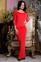 Платье длинное красное в пол