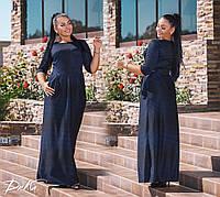 d1ca1d4efcf Модное женское платье батальное в пол ткань итальянский трикотаж в размерах  50-56