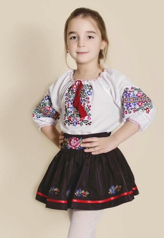 Блуза вышитая детская О-ДБ-0007 -