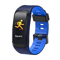 Фитнес-браслет Smart Band F4,blue,цветной экран, пульсометр,тонометр, IP68, кислород в крови