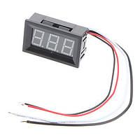 Цифровий вольтметр 0 -100В (червоні символи), фото 1