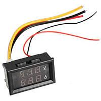 Цифровий DC вольтметр 0 -100В + амперметр 0 -10А, фото 1