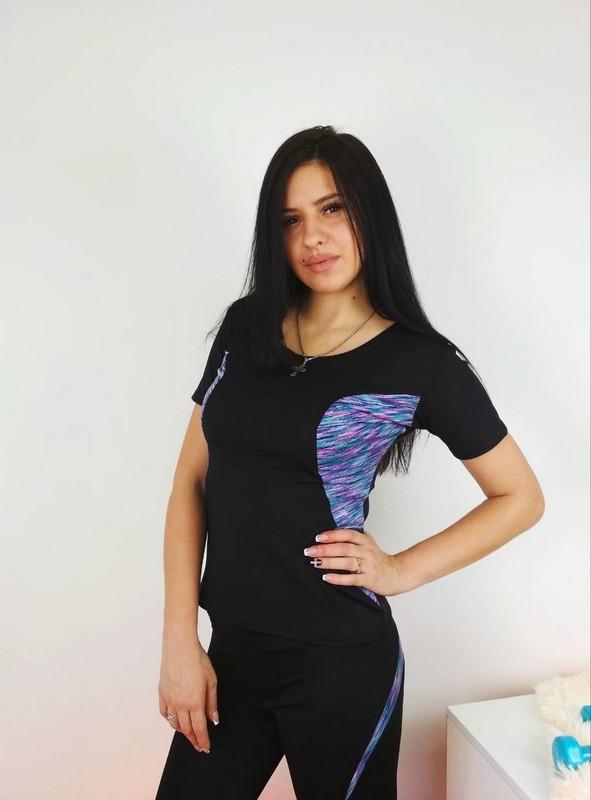 Женская спортивная футболка с коротким рукавом 42-48 р