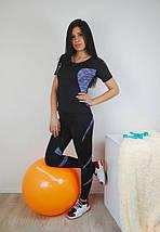 Женская спортивная футболка с коротким рукавом 42-48 р, фото 2