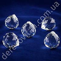 """Подвеска-кристалл """"Шарик с огранкой"""", стекло, 2.9×3 см, 5 шт."""