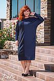Ошатне жіноче плаття тканина італійський трикотаж в розмірах 50-52 54-56, фото 2