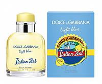 D&G Light Blue Italian Zest Pour Homme туалетная вода 125 ml. (Дольче Габбана Лайт Блю Италия Зест Пур Хом), фото 1