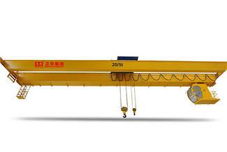 Двухбалочный мостовой кран с электрической лебедкой