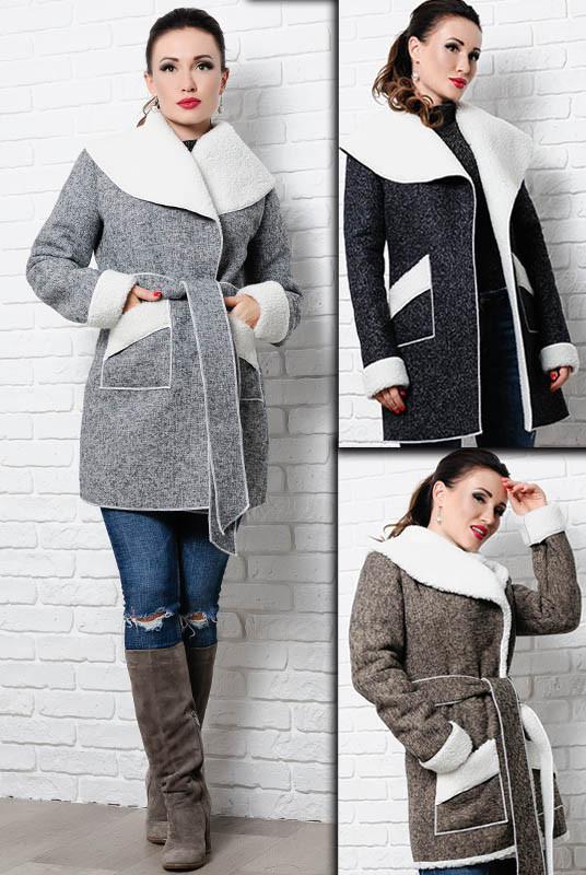 Тепле пальто на овчині - Бенжаміна -