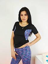 Женская спортивная футболка с коротким рукавом 42-48 р, фото 3