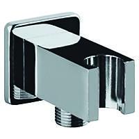 Подключение для душевого шланга с держателем Kern 0213 квадрат, фото 1