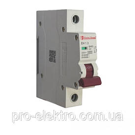 EH-1.3  Автоматический выключатель 1 полюс 3А