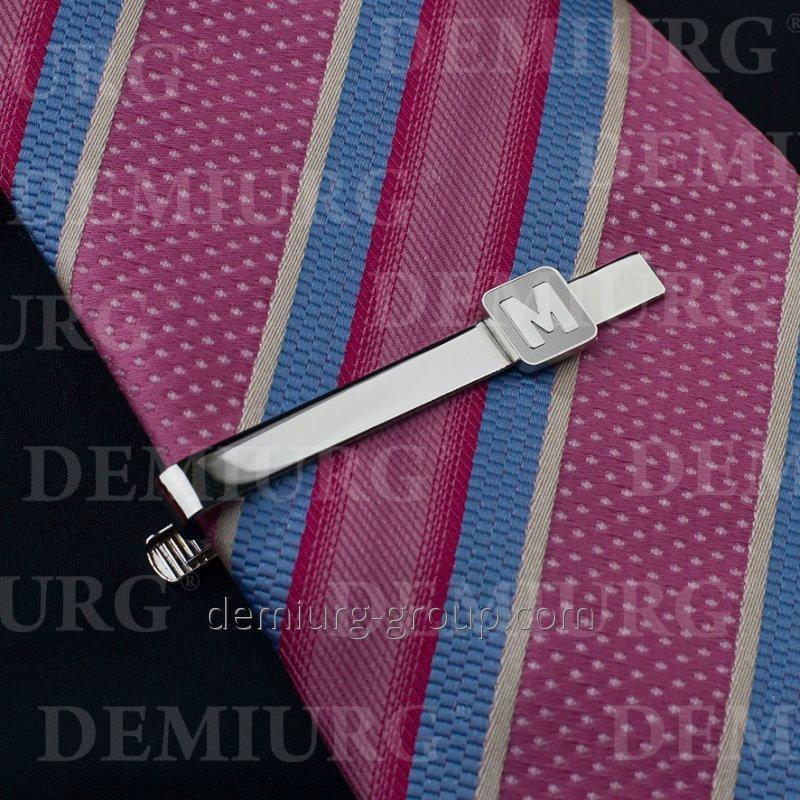 """Зажим для галстука с буквой """"М"""""""