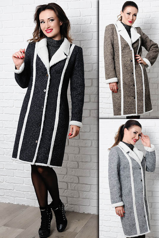 Женское пальто на овчине  - Дореми -