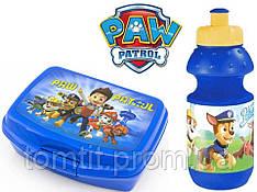 "Набор ""Paw Patrol  (Щенячий патруль)"". Ланч бокс (ланчбокс) + бутылка, цвет синий"