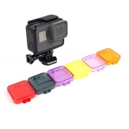 Набор Фильтр 6в1  для дайвинга на GoPro Hero5 и GoPro Hero6 Black, фото 2