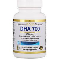 DHA/ДГК 700 (концентрат омега-3) 30 капс улучшение работы мозга, IQ California Gold Nutrition (USA)