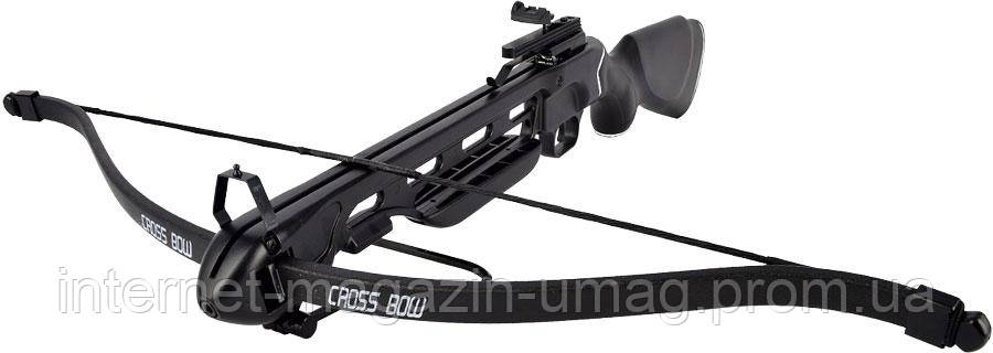 Арбалет Man Kung MK-150A1PB винтовочного типа, пластиковый приклад, черный