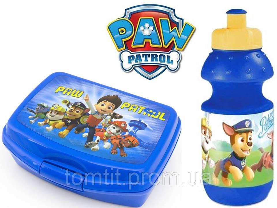 """Набор """"Paw Patrol - Щенячий патруль"""". Бутылка и Ланч бокс (ланчбокс), цвет синий"""