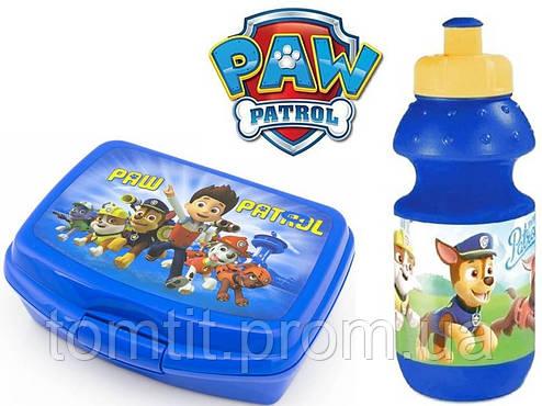 """Набор """"Paw Patrol - Щенячий патруль"""". Бутылка и Ланч бокс (ланчбокс), цвет синий, фото 2"""