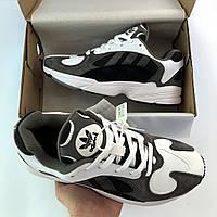 Кроссовки мужские Adidas Falcon белые   серые ( реплика ) 0a71371c9b048