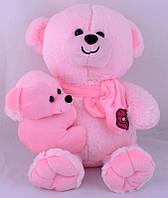 Мягкая игрушка Медведь с ребенком 35см №30074 (розовый)