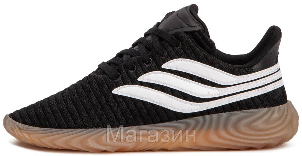 Мужские кроссовки adidas Sobakov Black в стиле Адидас черные