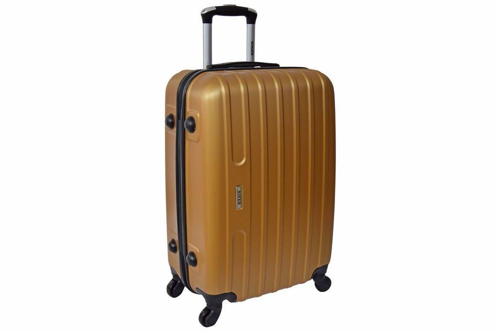Дорожный чемодан на колесах Siker Line Золотой Средний