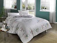 Двуспальное евро постельное белье TAC Madelyn gri Ранфорс
